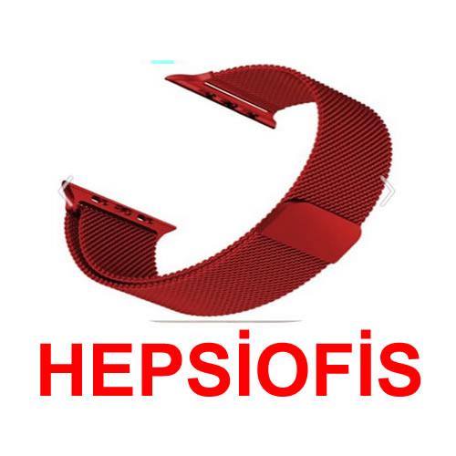 Apple Hepsiofis Watch 6 44mm Milanese Loop Kordon Kýrmýzý