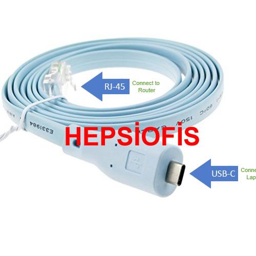 Hepsiofis Cisco  Usb Konsol Kablosu Type C Konsol Kablosu