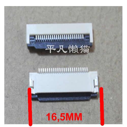 24 pin 0.5 MM FPC Klavye Dokunmatik Fpc Soket 16,5mm geniþlik