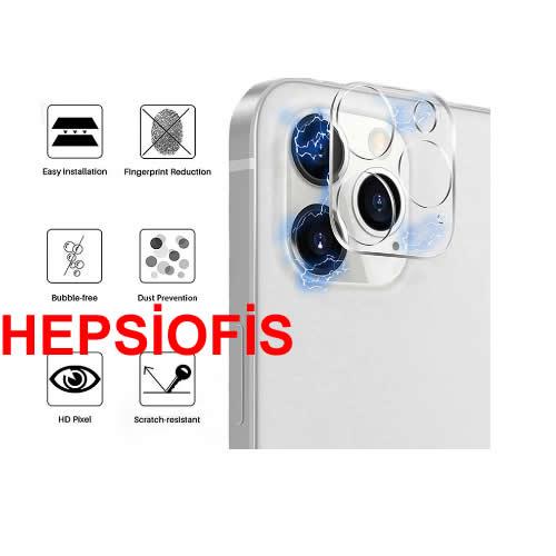 Hepsiofis Apple iphone 12 Kamera Lens Koruyucu Kýrýlmaz