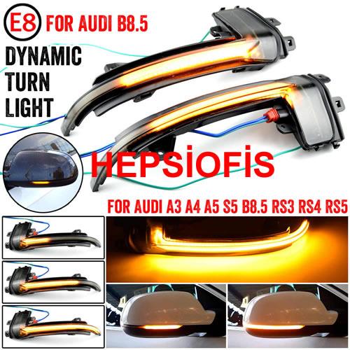 Audi A5-A4-A3 B8.5 KAYAR LED AYNA LED  SAÐ SOL AUDÝ KAYAR LED SÝNYAL B8.5