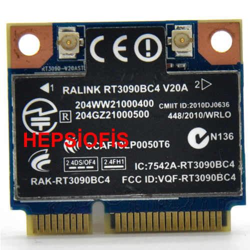 Ralink Rt3090bc4 Kablosuz Wlan Wifi 300m N Bluetooth BLUETOOTH