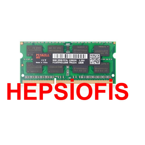 Puskill PUS8G1600135-NB 8 GB DDR3 1600 MHz 1.35 V Notebook Ram