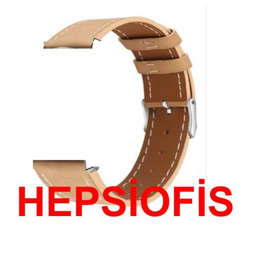 hepsiofis Huawei Gt2 46 mm 22 m Deri Kordon Sütlü Kahverengi