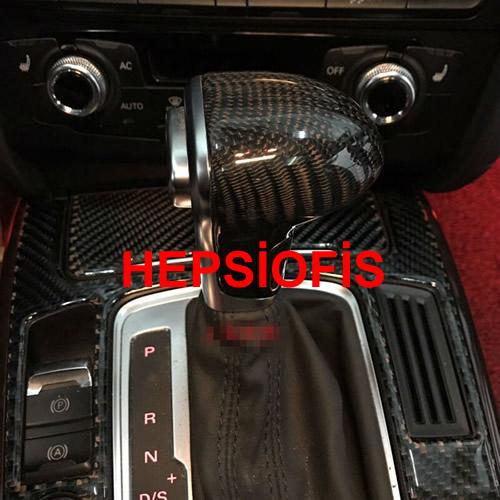 Audi A7 2008-2009-2010-2011-2012-2013-2014 Otomatik Vites Topuzu Carbon Fiber Kaplama