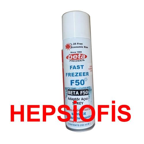 Beta Fast Freezer F50 Soðutucu Sprey Adaptör Sökme Spreyi -50 Derece