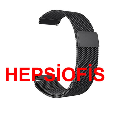 hepsiofis Honor Magic Watch 2 46mm Milanese Mýknatýslý Metal Kordon Siyah
