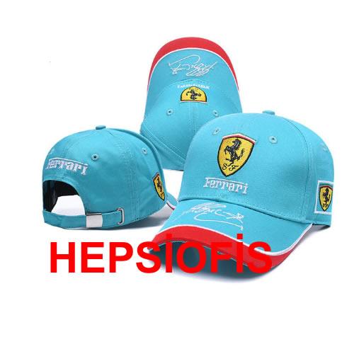 Hepsiofis Ferrari Þapka Mavi Renk Ferrari Logo ÞAPKA