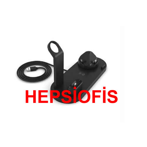 hepsiofis Iphone Watch Ve Airpod Sarj Stand 3 In 1 Adaptör Hariç
