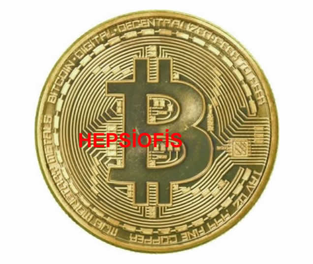 BitCoin Madeni Hediyelik Sanal Hatýra Parasý Hediyelik Bitcoin Para Altýn Sarýsý