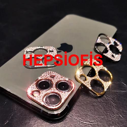 Hepsiofis Apple iphone 11 Pro 11 Pro Max Elmas Kaplama Kamera Lens Koruyucu Gümüþ Kamera Koruma