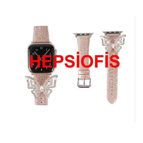 hepsiofis Iwatch 1 2 3 4 5 6 Seri 40mm 2021 Seri Kelebek Kordon Altýn