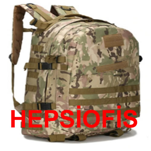 hepsiofis Askeri Kamuflaj Sýrt Çantasý 45litre Hacim Askeri Kamp Çantasý