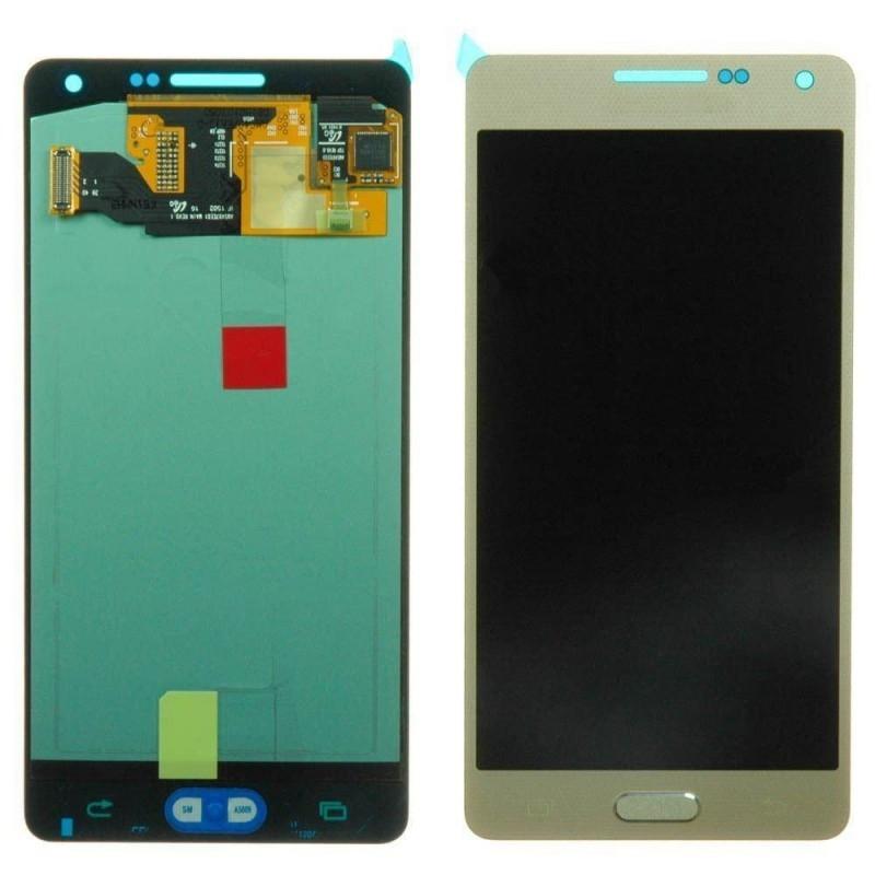 GALAXY A5 A500 A KALÝTE LCD EKRAN VE DOKUNMATÝK SÝYAH  NOAMOLED GOLD